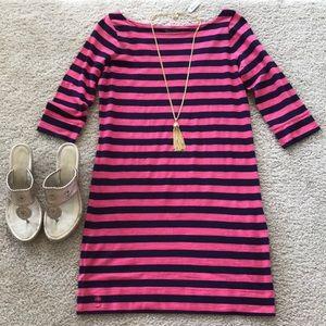 Lilly Pulitzer Cassie Dress in Krissy Pink Stripe